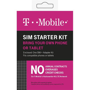 T-Mobile Complete SIM Starter Kit, Smartphones- WorldWide Accessories