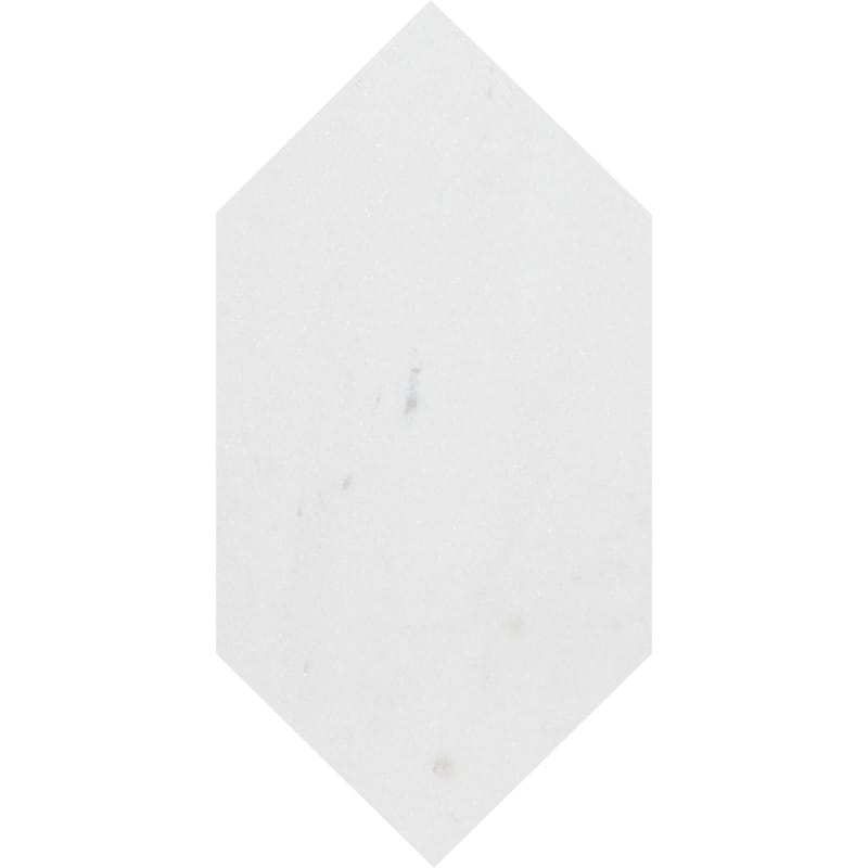 products     by collection     aspen white honed marble  Aspen White Honed Large Picket Marble Waterjet Decos 6x12