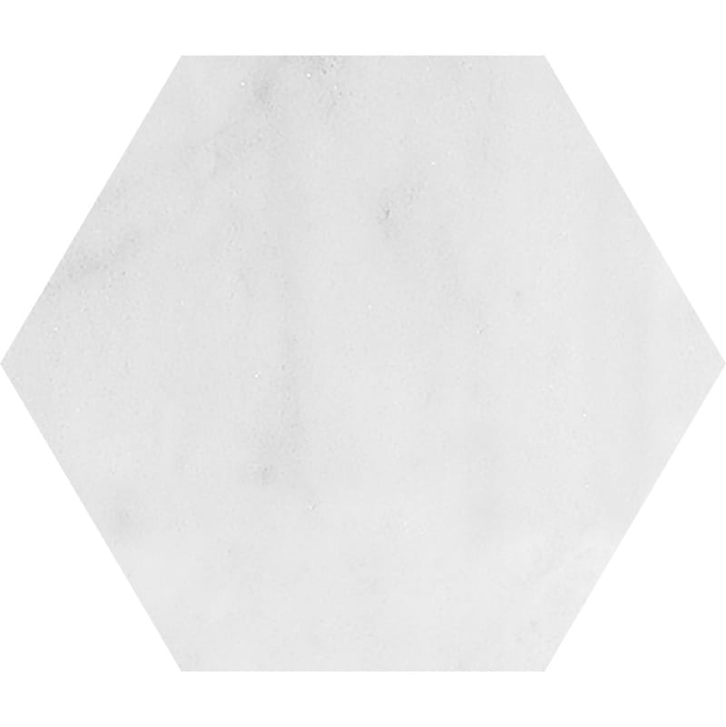 Avalon Polished Hexagon Marble Waterjet Decos 5 25/32x5