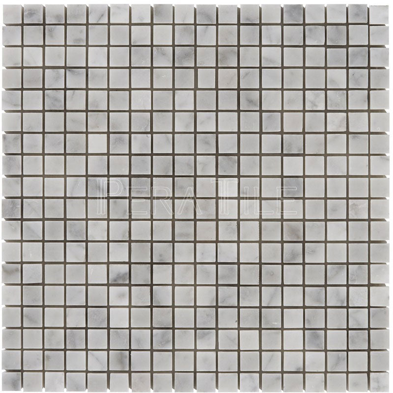 Bianco Carrara 5/8×5/8 Honed Square Mosaic