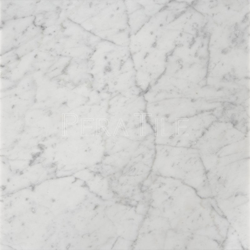 Bianco Carrara 18×18 Polished Marble Tile