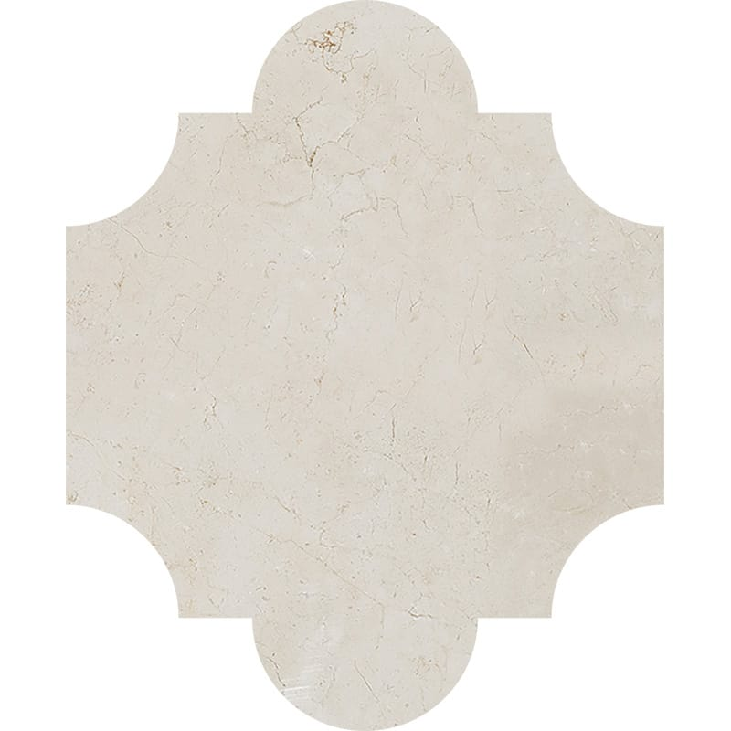 products     by collection     crema marfil marble  Crema Marfil Polished San Felipe Marble Waterjet Decos 8x9 3/4