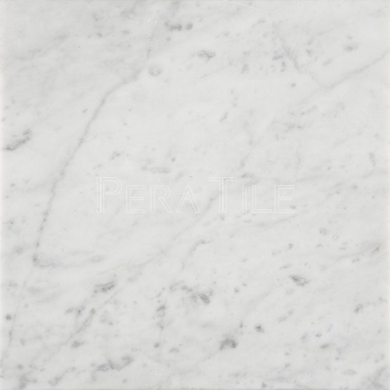 Bianco Carrara 12×12 Honed Marble Tile