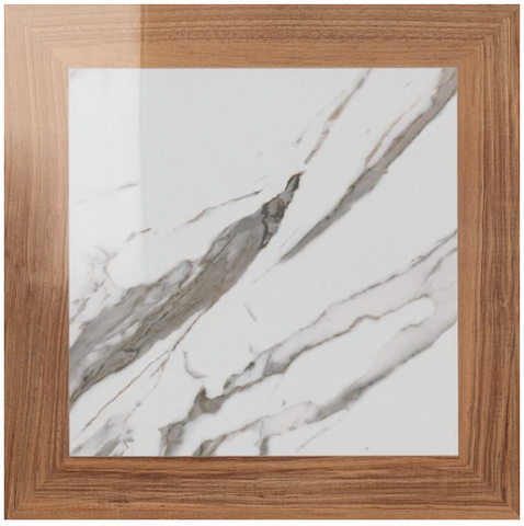"CALACATTA SQUARE PORCELAIN 19"" X 19"" SEMI POLISHED"