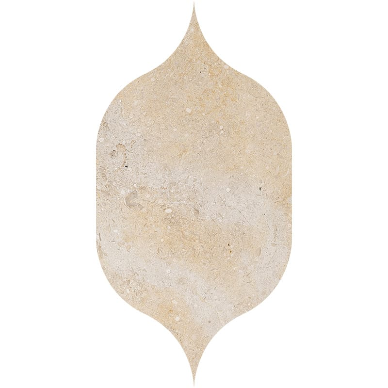 Seashell Honed Gothic Arabesque Limestone Waterjet Decos 4 7/8x8 13/16