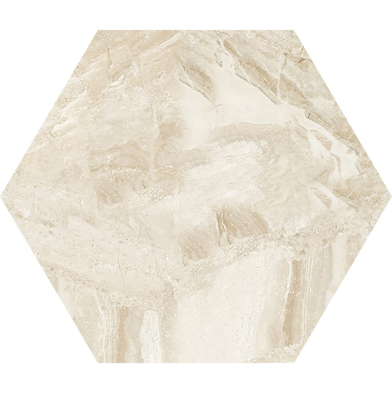 Diana Royal Honed Hexagon Marble Waterjet Decos 5 25/32x5