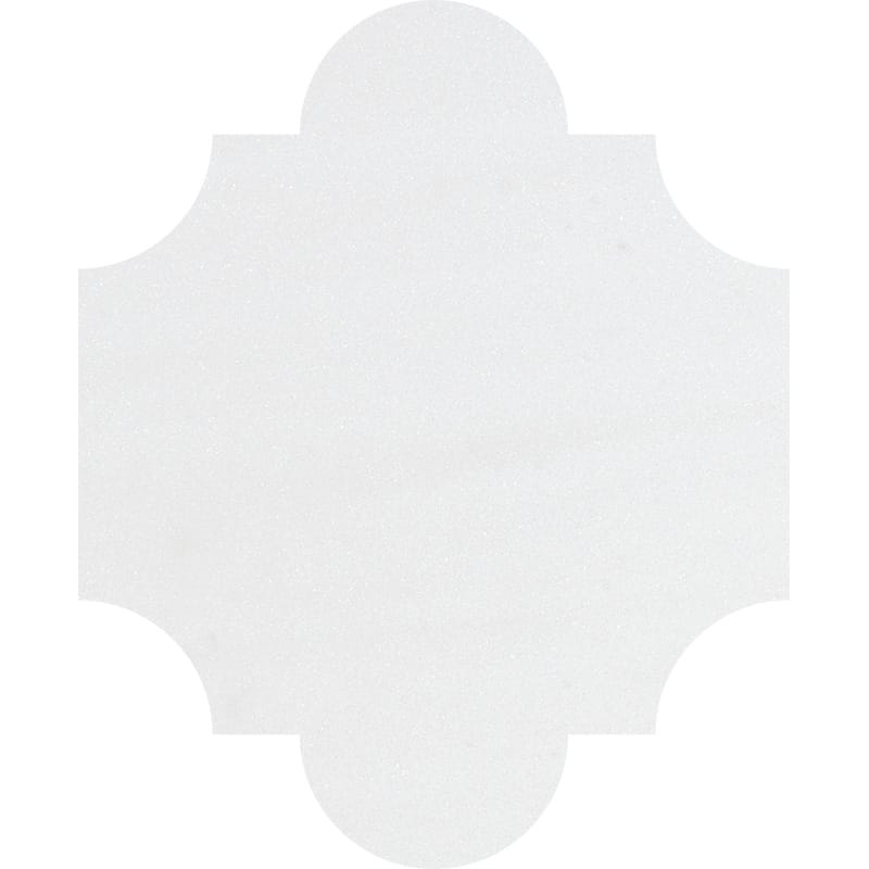 products     by collection     aspen white polished marble  Aspen White Polished San Felipe Marble Waterjet Decos 8x9 3/4