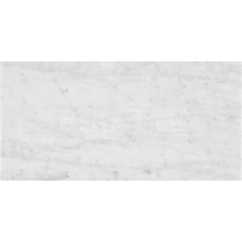 Bianco Carrara 12×24 Honed Marble Tile