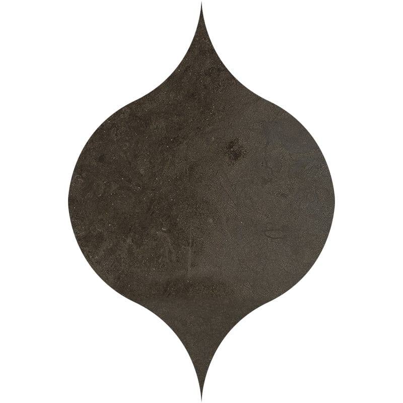 Bosphorus Honed Winter Leaf Limestone Waterjet Decos 4 7/8x6 13/16
