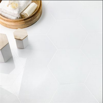 "Crystal Tech White 10"" Hexagon"