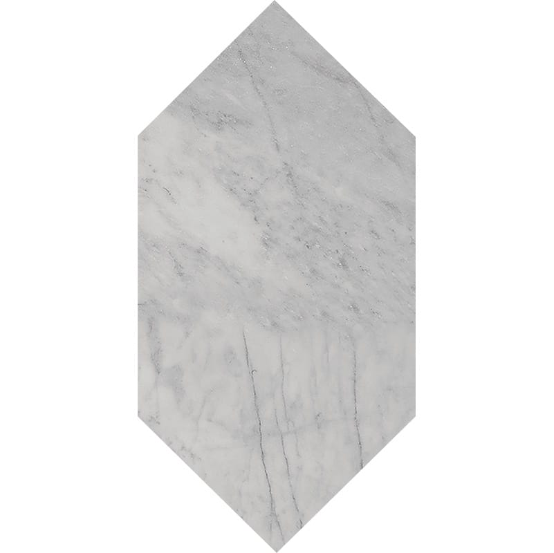 Avenza Honed Large Picket Marble Waterjet Decos 6x12
