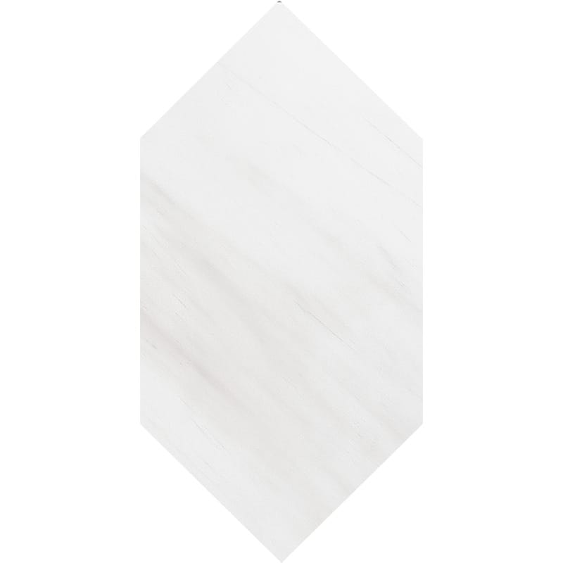 Snow White Honed Large Picket Marble Waterjet Decos 6x12