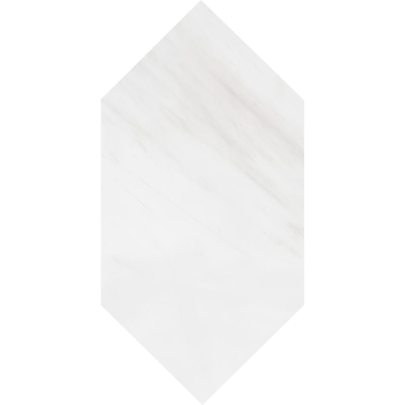 Snow White Polished Large Picket Marble Waterjet Decos 6x12