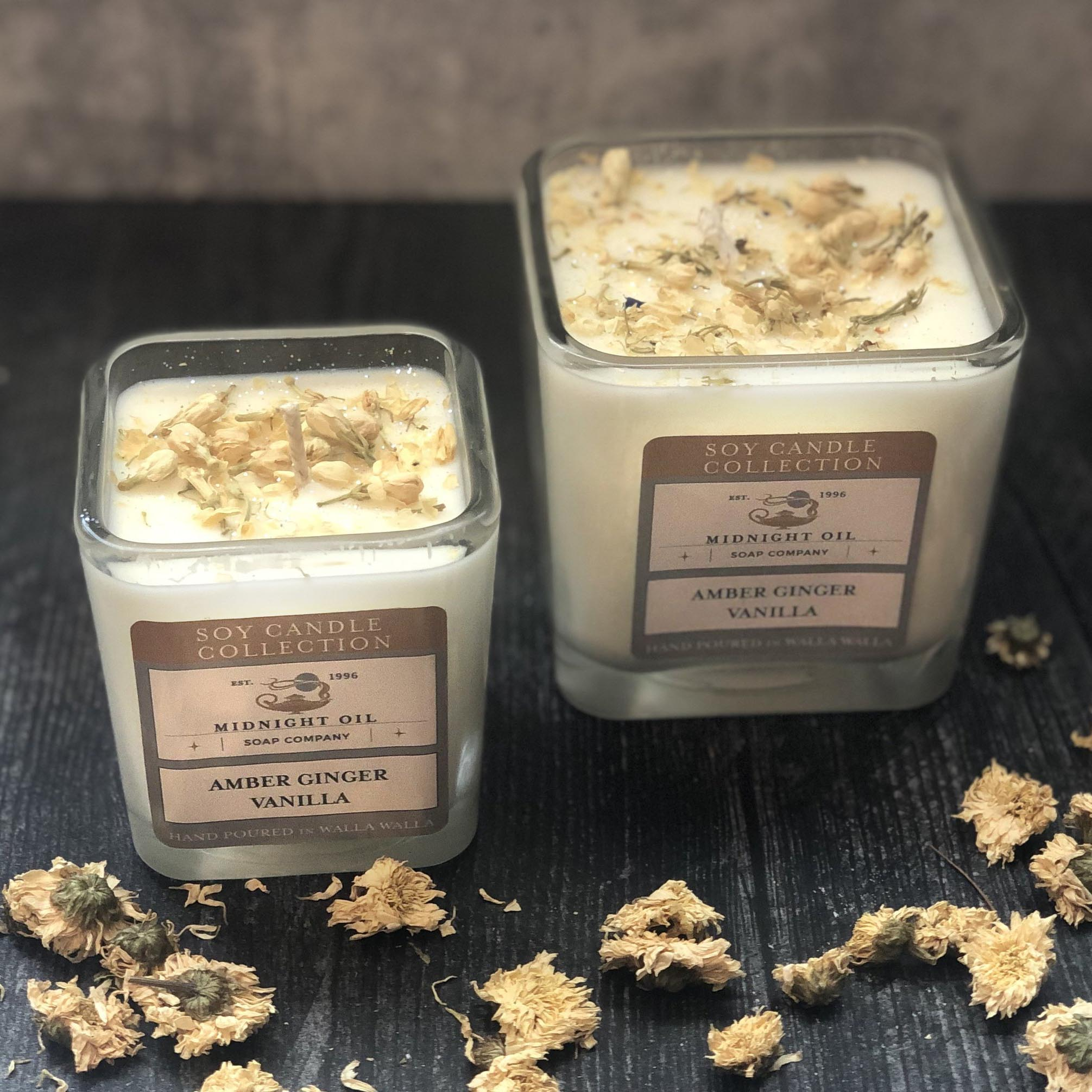 AMBER GINGER VANILLA (Soy Candle)