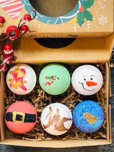 HOLIDAY BATH BOMB BOX OF 6