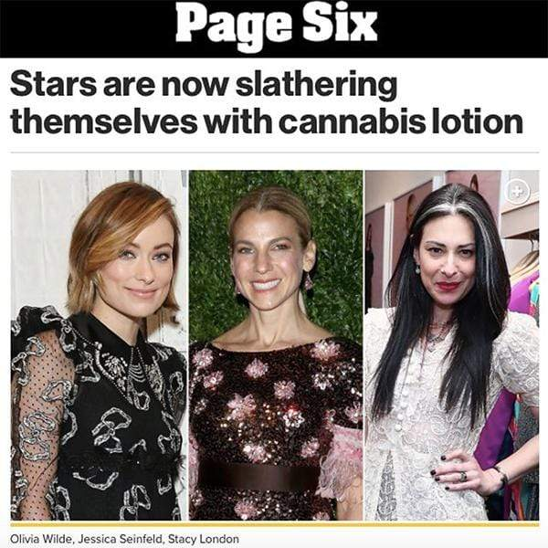 Stars are now slathering themselves with cannabis lotion