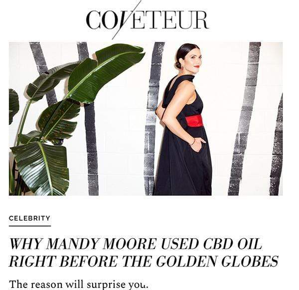 Why Mandy Moore Used Cbd Oil Right Before The Golden Globes