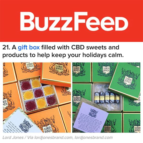 A Gift Box Filled With Cbd Sweets And Products To Help Keep Your Holidays Calm