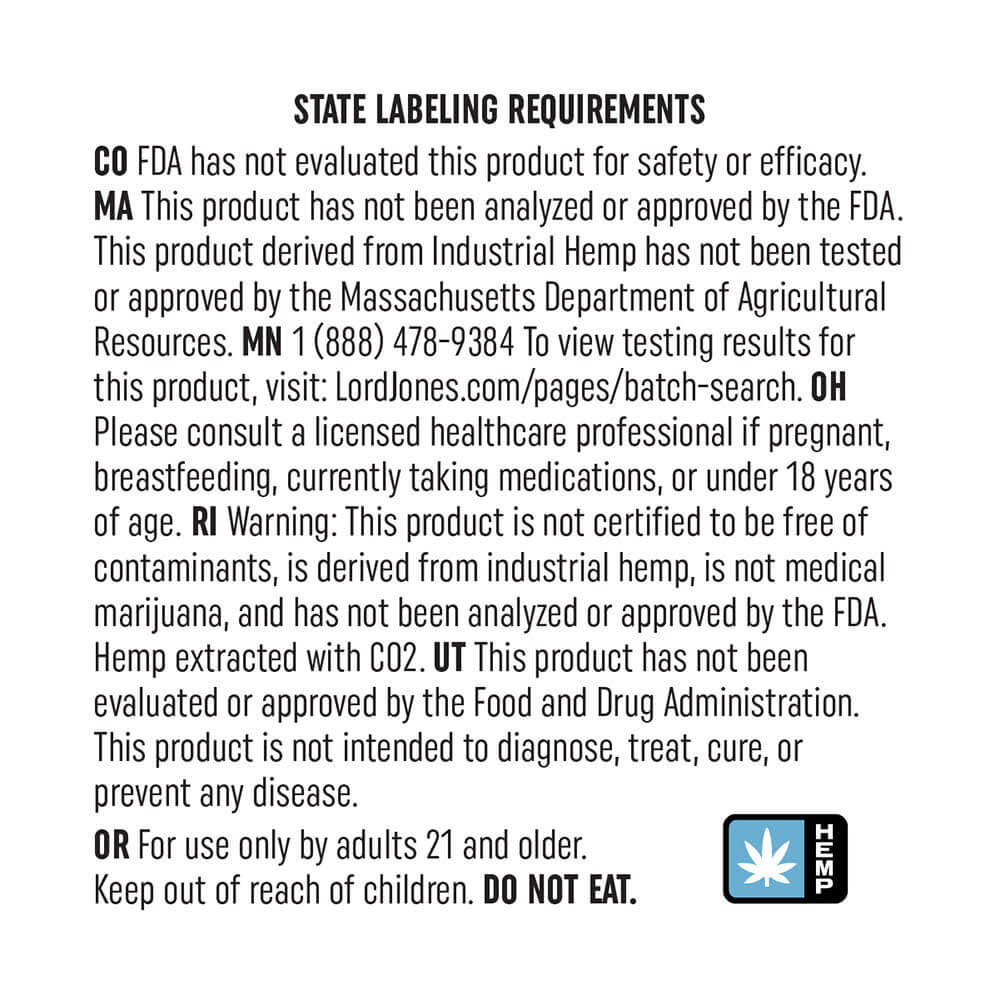 topical labelling requirement for cbd products