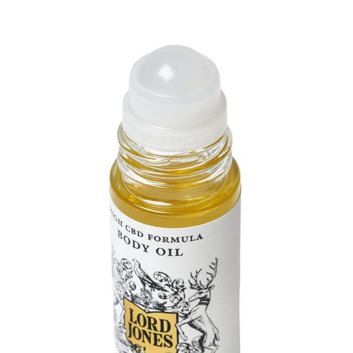 Lord Jones CBD body oil with massaging roller ball