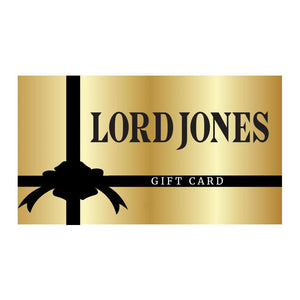 The Lord Jones digital Gift Card with image of gold colored gift card