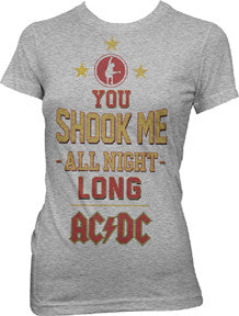 AC/DC You Shook Me All Night Long Juniors T-Shirt