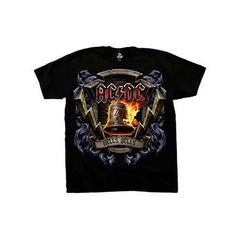 AC/DC Hells Bells Shield Mens T-Shirt