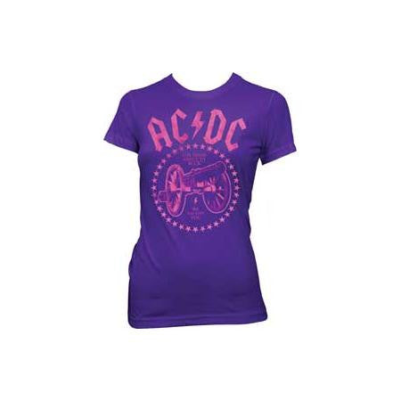 AC/DC For Those About Purple Juniors Tissue T-Shirt