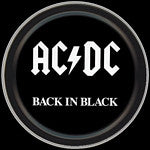 AC/DC Back in Black Round Tin