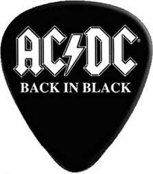 AC/DC 12 Pack Guitar Picks