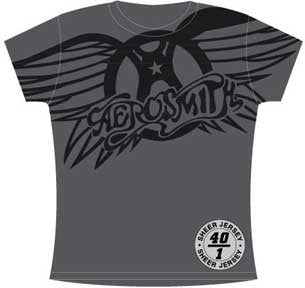 Aerosmith Winged Logo Juniors Extra Lightweight T-Shirt