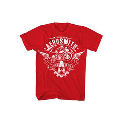 Aerosmith Livin On The Edge RED Mens T-Shirt