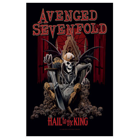 Avenged Sevenfold Hail To The King Fabric Poster