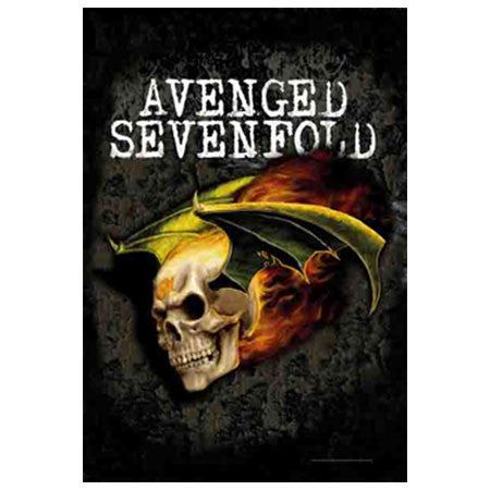 Avenged Sevenfold Flying Deathbat Fabric Poster