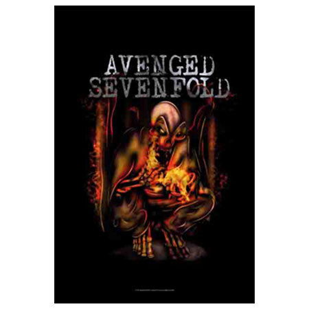 Avenged Sevenfold Fire Bat Fabric Poster