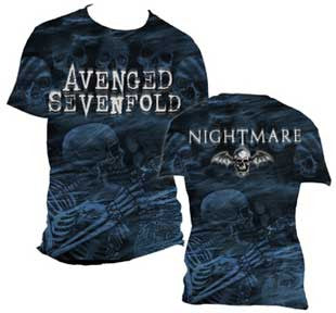 Avenged Sevenfold Skeleton Mist AO Mens T-Shirt