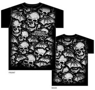 Avenged Sevenfold AO White Deathbats Mens T-Shirt