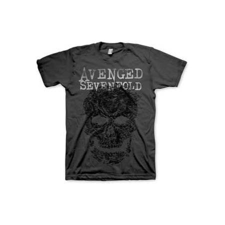 Avenged Sevenfold Grey Skull Mens T-Shirt