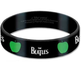 The Beatles Drop T and Apple Rubber Wristband