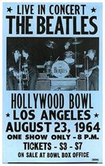 The Beatles Live In Concert Hollywood Bowl Concert Poster