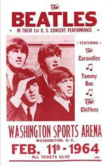 The Beatles Washington Sports Arena Concert Poster