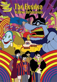 The Beatles Yellow Submarine 3D Poster