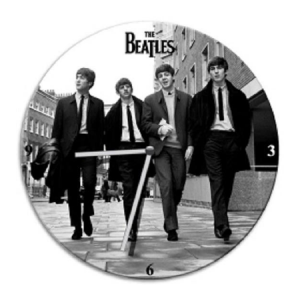The Beatles Cordless Wood Wall Clock