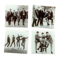 The Beatles Glass Coaster Set