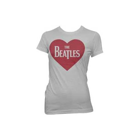 The Beatles Red Heart Juniors T-Shirt