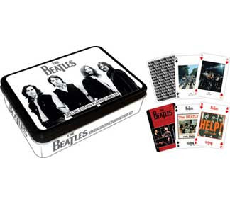 The Beatles Black Playing Card Tin