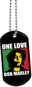 Bob Marley One Love Dog Tag