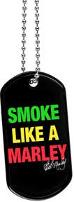 Bob Marley Smoke Dog Tag