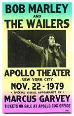 Bob Marley and The Wailers Apollo Theater Concert Poster