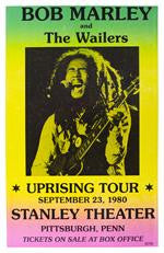 Bob Marley and The Wailers Uprising Tour Concert Poster